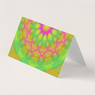 Neon Kaleidoscope Place Card