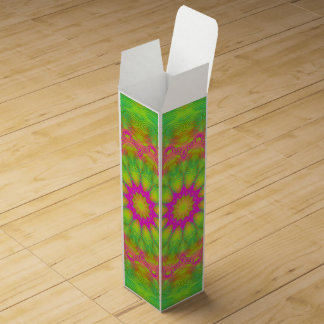 Neon Kaleidoscope Wine Box