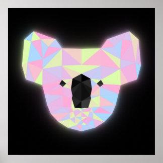 Neon Koala Poster