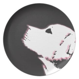 Neon Labrador Plate