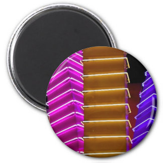 Neon Lamps 6 Cm Round Magnet