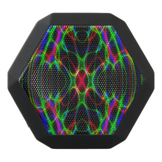 Neon Laser Light Psychedelic Abstract Black Boombot Rex Bluetooth Speaker