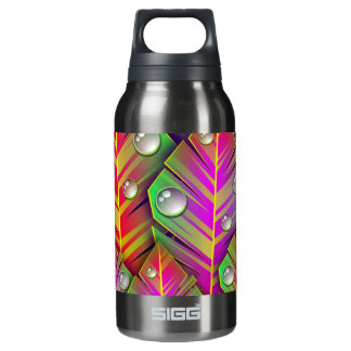 Neon leaves print on hot and cold drink bottle