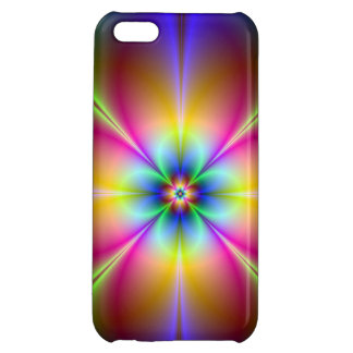 Neon Light Daisy Abstract Tie Dye iPhone 5 Case