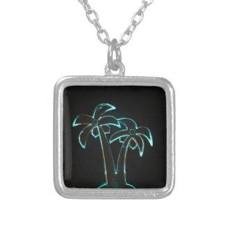 Neon Lighted Tropical Palm Trees Image Custom Jewelry