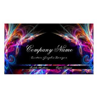 Neon Lights Graphic Designer Business Cards d3