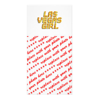Neon Lights - Las Vegas Girl Picture Card
