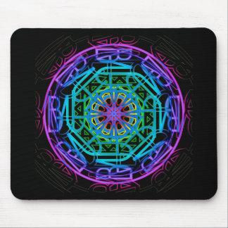 Neon Lights Mandala Design Mousepad