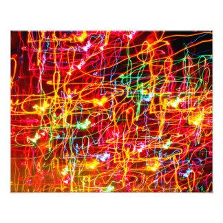 Neon lights multicoloured photo art