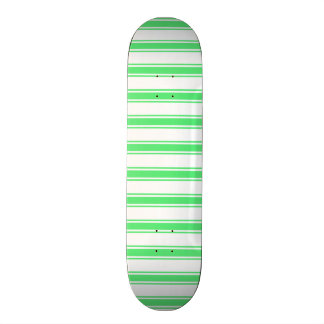 Neon Lime Green and White Stripes; Striped Skate Deck