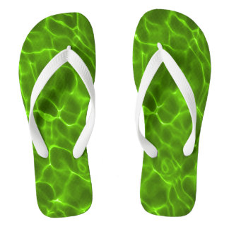 Neon Lime Green Swimming Pool Thongs