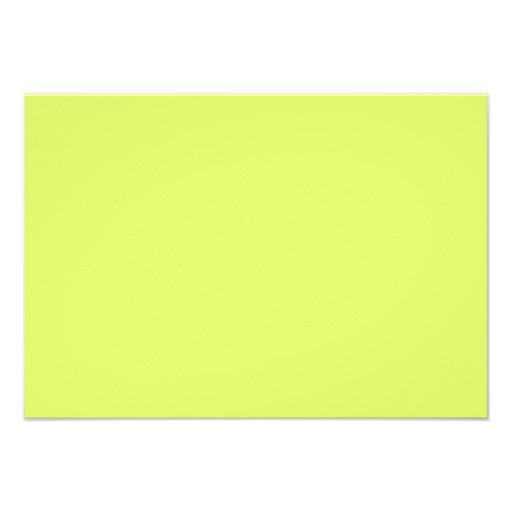 Neon Lime Yellow Green Color Trend Blank Template Personalized Announcement