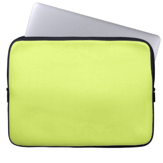 Neon Lime Yellow Green Color Trend Blank Template Laptop Computer Sleeves
