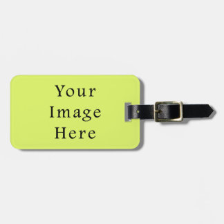 Neon Lime Yellow Green Color Trend Blank Template Luggage Tag