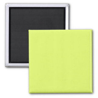 Neon Lime Yellow Green Color Trend Blank Template Square Magnet