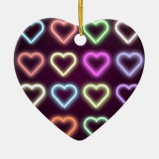 Neon Love Ceramic Heart Decoration