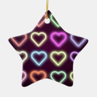 Neon Love Ceramic Star Decoration
