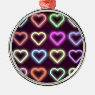 Neon Love Silver-Colored Round Decoration