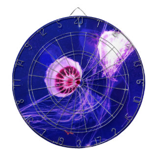 Neon Luminous Jellyfish Dartboard