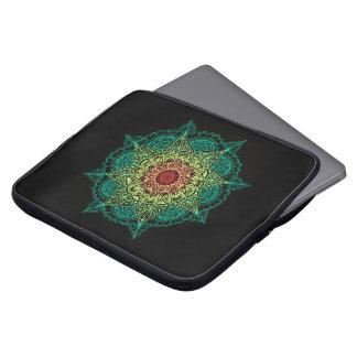 Neon Mandala Design Laptop Sleeve