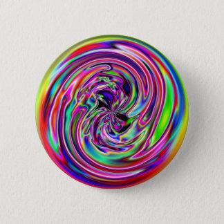Neon Marble 6 Cm Round Badge