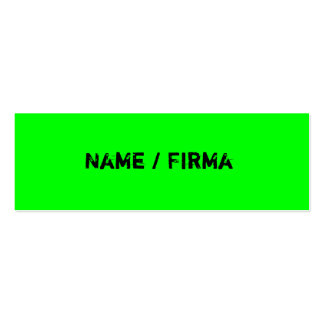 Neon - mini visiting cards business card template