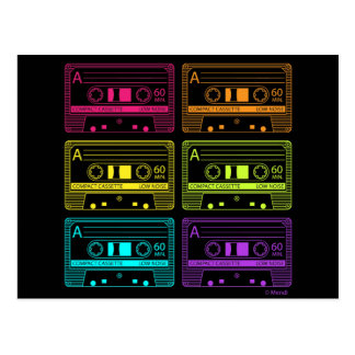 Neon Mix Tapes Postcard