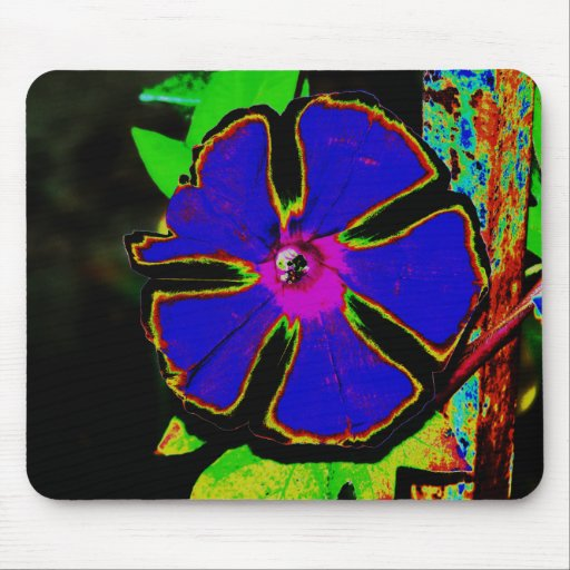 Neon Morning Glory Mouse Pad