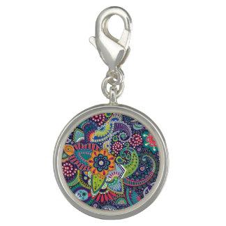 Neon Multicolor floral Paisley pattern