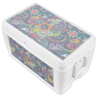 Neon Multicolor floral Paisley pattern Cooler