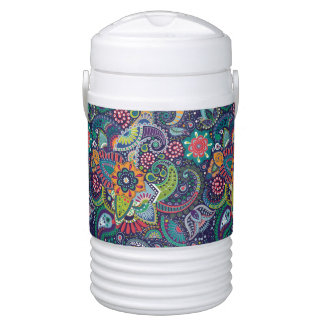 Neon Multicolor floral Paisley pattern Drinks Cooler