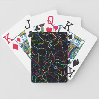 Neon Multicolor Lines Bicycle Playing Cards