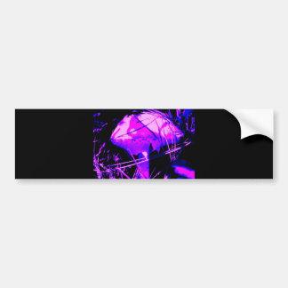 Neon Mushroom Bumper Sticker