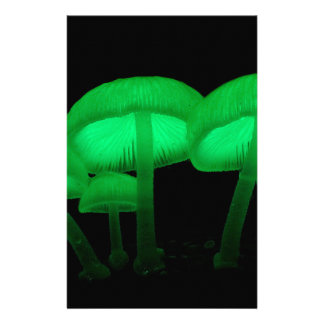 Neon Mushrooms Personalized Stationery