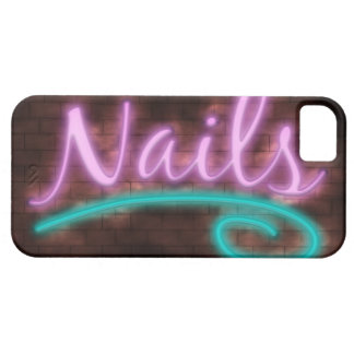 Neon Nails Sign iPhone 5 Case