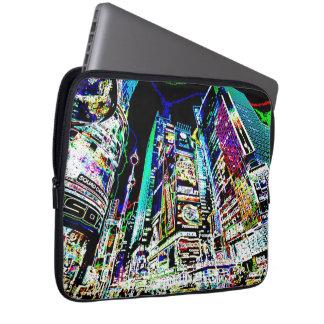 Neon New York City Laptop Computer Sleeve