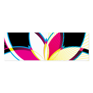 Neon Nights (Gift Tag) Double-Sided Mini Business Cards (Pack Of 20)