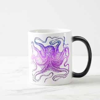 Neon Octopus in Blue and Purple Magic Mug