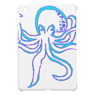Neon Octopus iPad Mini Covers