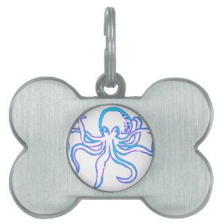 Neon Octopus Pet Tag