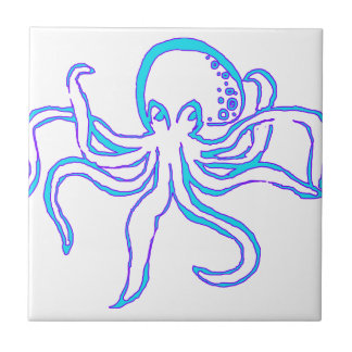 Neon Octopus Tile