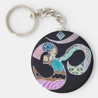 Neon Omkar Key Ring