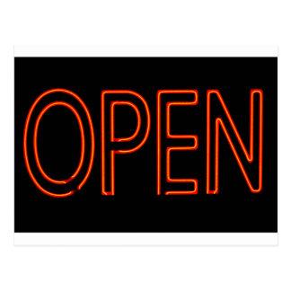 Neon Open Sign Postcard