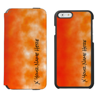 Neon Orange Chemical Glow Look 2 Incipio Watson™ iPhone 6 Wallet Case