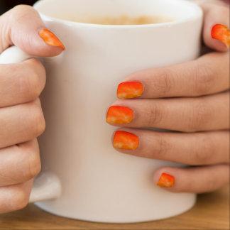 Neon Orange Fire Glow Look Customizable Shields Minx Nail Art