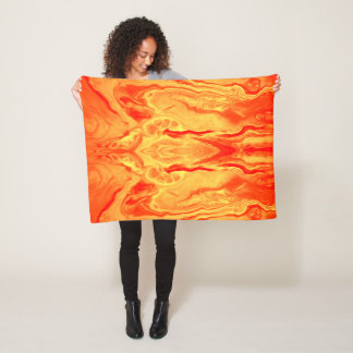 Neon Orange Fleece  by bcolor