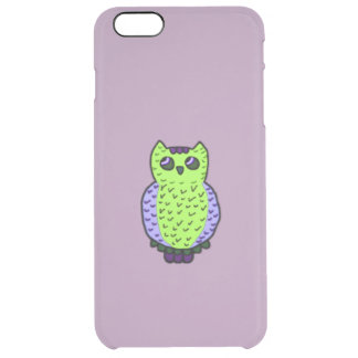 Neon Owl Clear iPhone 6 Plus Case