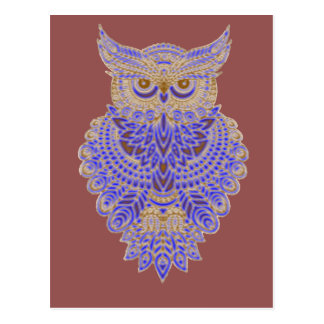 Neon Owl Postcard