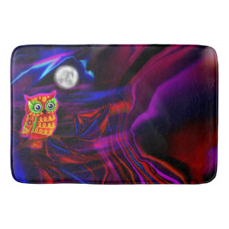 Neon Owl Thunderstorm Flash Bath Mat