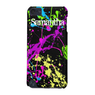 Neon Paint Splatters iPod Touch Skin iPod Touch (5th Generation) Cover